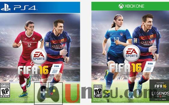 FIFA 16 ครั้งแรกกับปกนักฟุตบอลหญิง