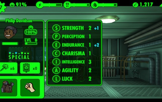 Fallout Shelter : ค่าความสามารถ SPECIAL
