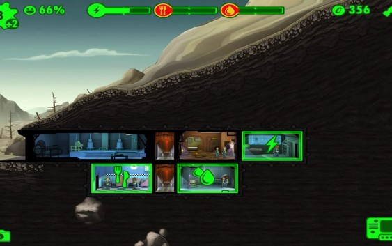 Fallout Shelter : ไฟฟ้า อาหาร น้ำ