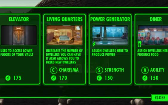 Fallout Shelter : รายละเอียดห้องต่างๆ
