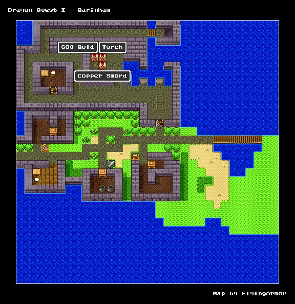 บทสรุป Dragon Quest I - เมืองกาไร