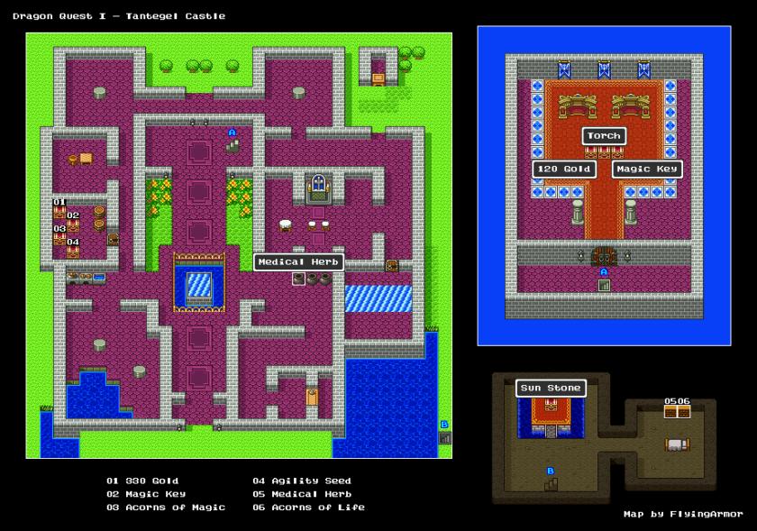 บทสรุป Dragon Quest I - ปราสาทลาดาทอม