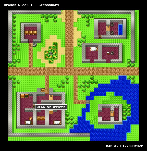 บทสรุป Dragon Quest I - เมืองลาดาทอม