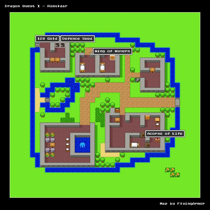 บทสรุป Dragon Quest I - เมืองริมูลดาล