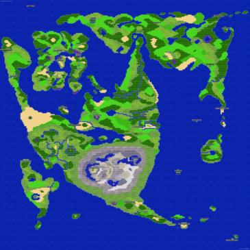 บทสรุป Dragon Quest II - แผนที่โลก