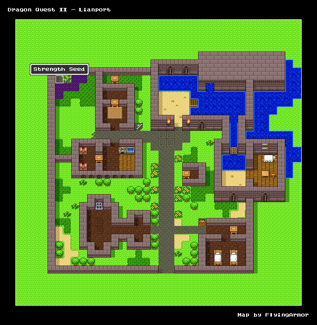 บทสรุป Dragon Quest II - หมู่บ้านลูฟกาน่า