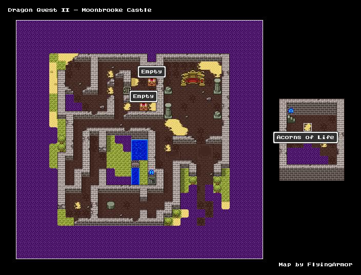 บทสรุป Dragon Quest II - ปราสาทมูนบรูค