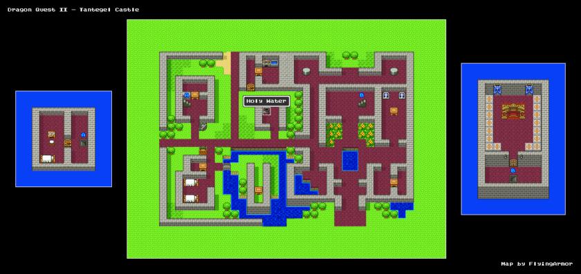 บทสรุป Dragon Quest II - ปราสาทลาดาทอม